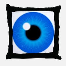 Blue Eye Iris and Pupil Throw Pillow