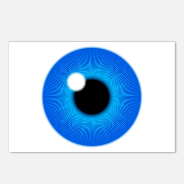 Blue Eye Iris and Pupil Postcards (Package of 8)