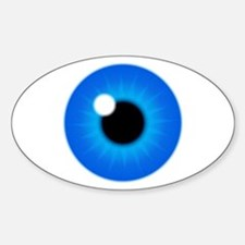 Blue Eye Iris and Pupil Sticker (Oval)