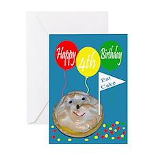 4th Birthday Greeting Card