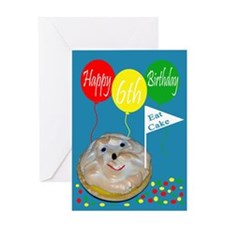 6th Birthday Greeting Card