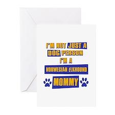Norwegian Elkhound Mommy Greeting Cards (Pk of 20)