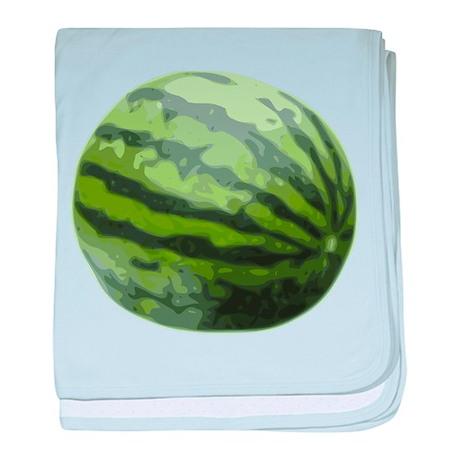 Watermelon Icon (color) baby blanket