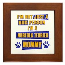 Norfolk Terrierr Mommy Framed Tile