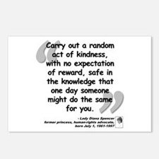 Diana Kindness Quote Postcards (Package of 8)