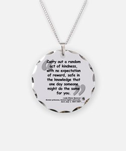 Diana Kindness Quote Necklace
