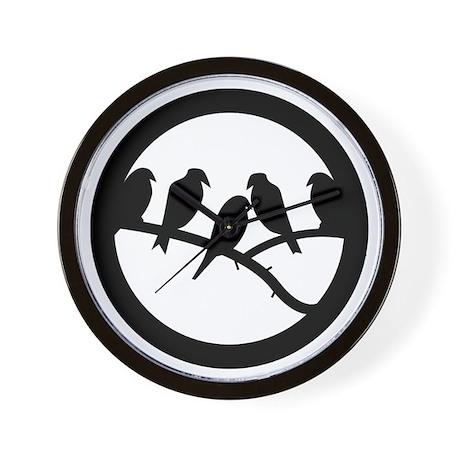Bird Badge Icon Wall Clock