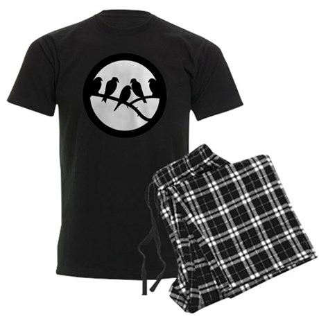 Bird Badge Icon Men's Dark Pajamas