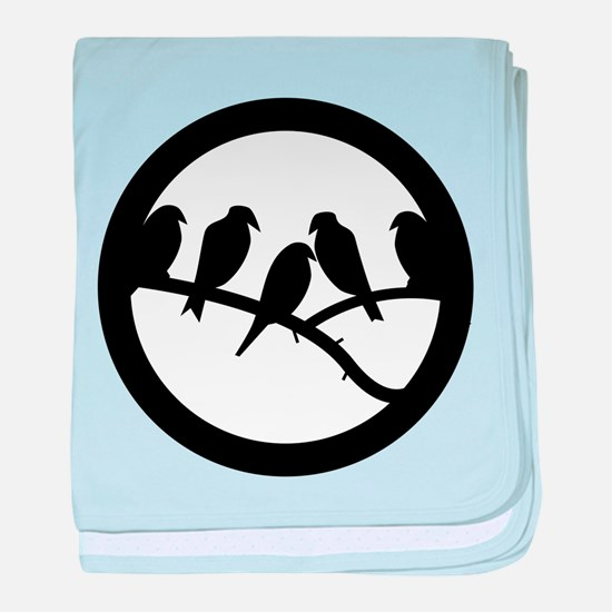 Bird Badge Icon baby blanket