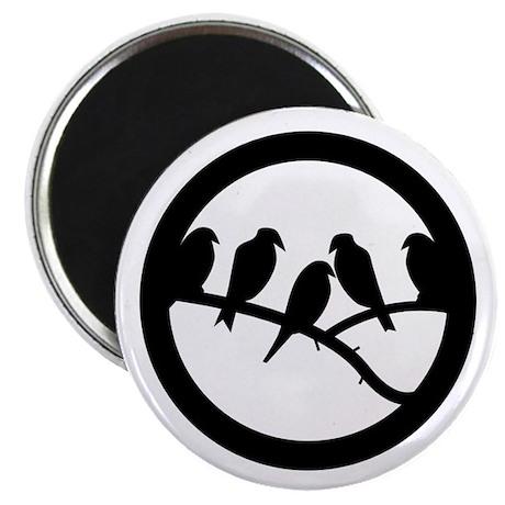 "Bird Badge Icon 2.25"" Magnet (10 pack)"