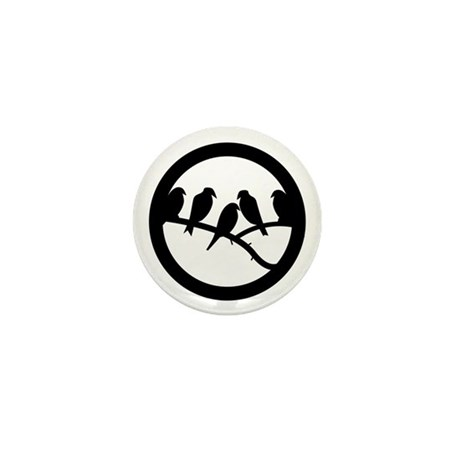 Bird Badge Icon Mini Button (10 pack)