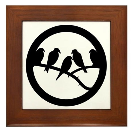 Bird Badge Icon Framed Tile