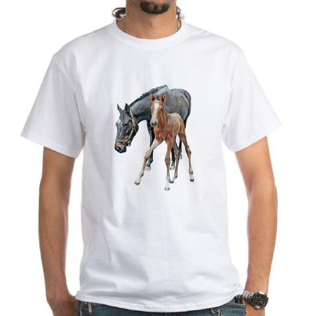 MARE & FOAL White T-Shirt