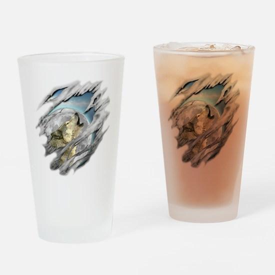 Torn Wolf Pint Glass