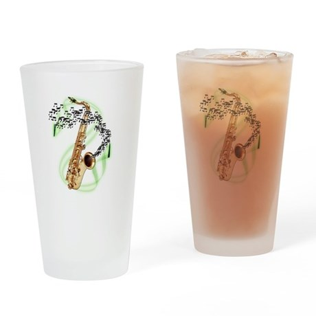 Tenor Saxophone Pint Glass