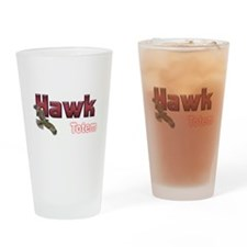 Hawk Pint Glass
