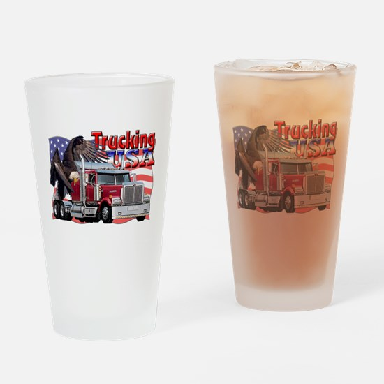 Trucking USA Pint Glass