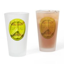 Softball peace Pint Glass