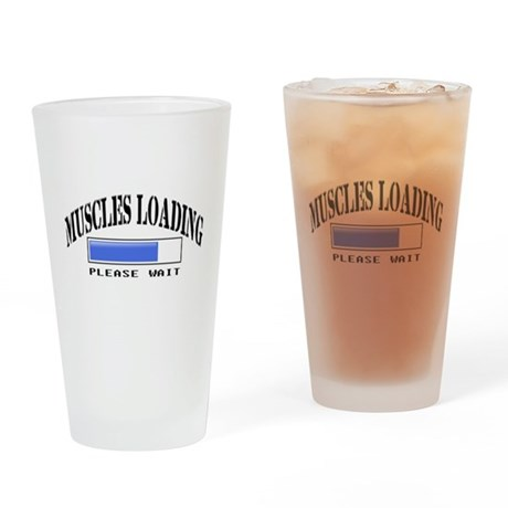Muscles loading Pint Glass