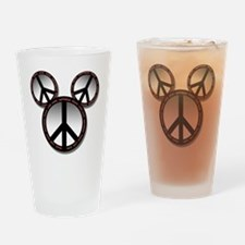 Peace love hope black Pint Glass