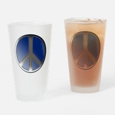 Peace bubble Pint Glass