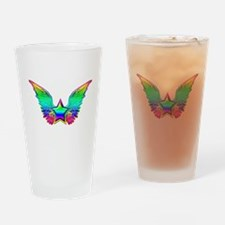 Rainbow winged star Pint Glass