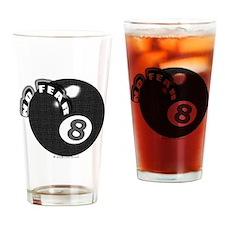 No Fear 8 Ball Drinking Glass