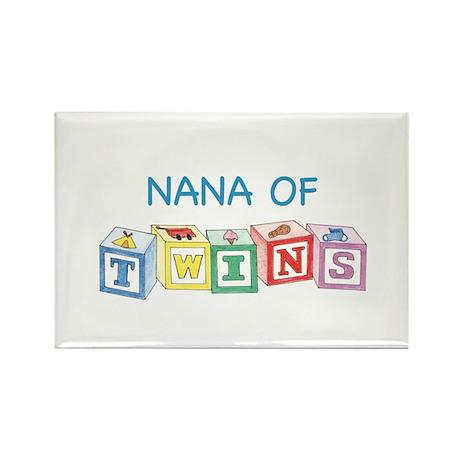 Nana of Twins Blocks Rectangle Magnet