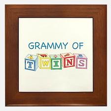 Grammy of Twins Framed Tile