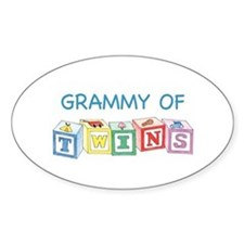 Grammy of Twins Oval Decal