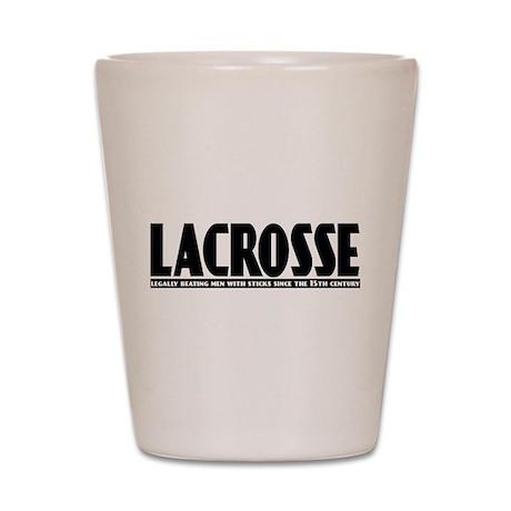 Lacrosse Beating People Shot Glass