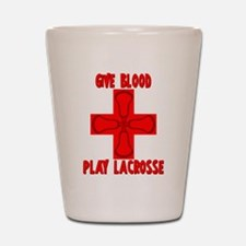 Lacrosse Give Blood Shot Glass