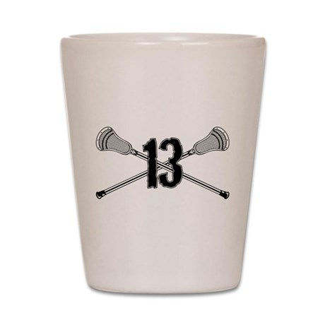 Lacrosse Number 13 Shot Glass