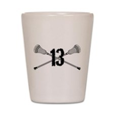 Lacrosse Number 13 Shot Glass
