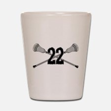 Lacrosse Number 22 Shot Glass