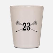 Lacrosse Number 23 Shot Glass
