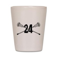 Lacrosse Number 24 Shot Glass