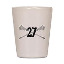 Lacrosse Number 27 Shot Glass