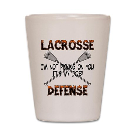 Lacrosse Defense Shot Glass