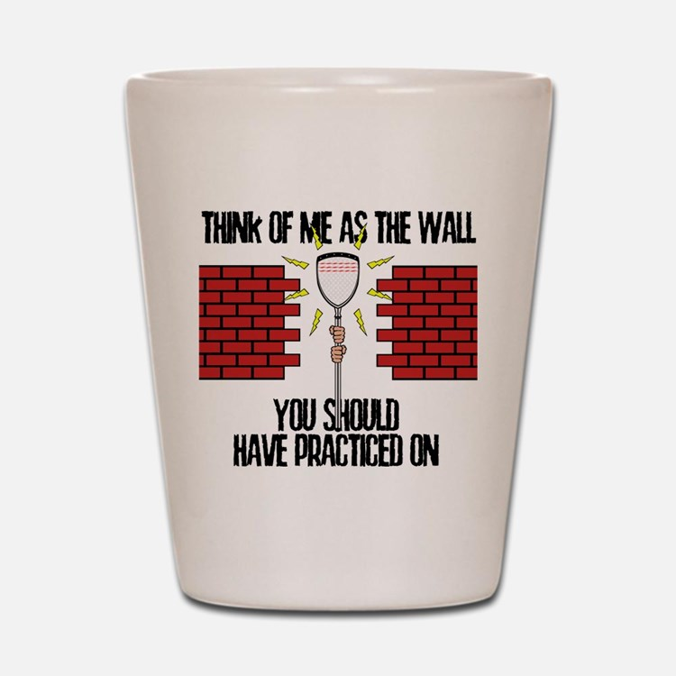 Lacrosse Goalie Wall Shot Glass