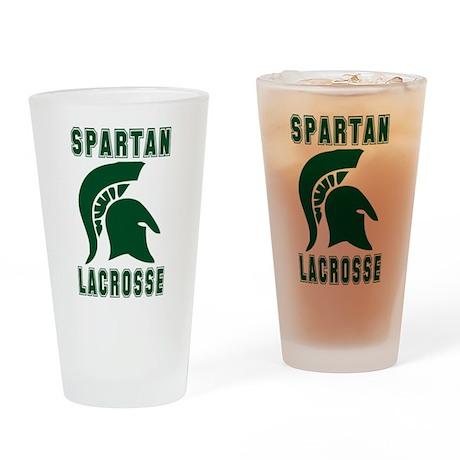 Lacrosse Spartan Pint Glass