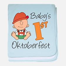 Baby's First Oktoberfest baby blanket