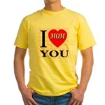 I Love You Mom Yellow T-Shirt