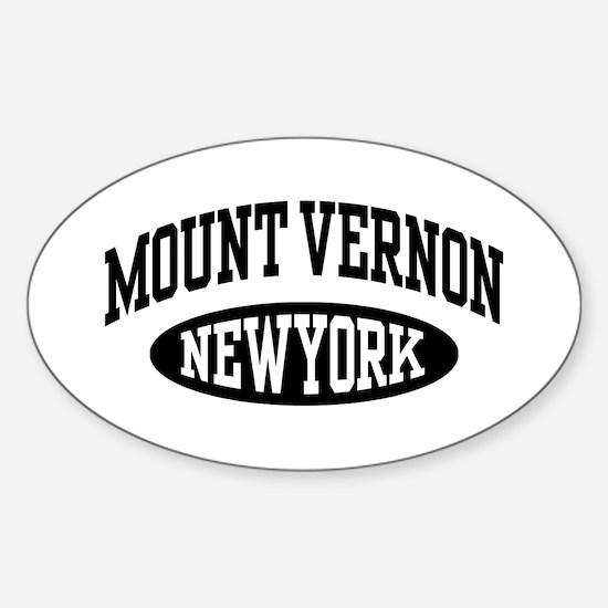 Mount Vernon NY Sticker (Oval)