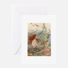 Mermaid Lass Greeting Card