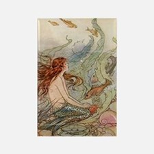 mermaid lass Rectangle Magnet