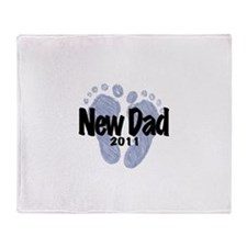 New Dad 2011 (Boy) Throw Blanket