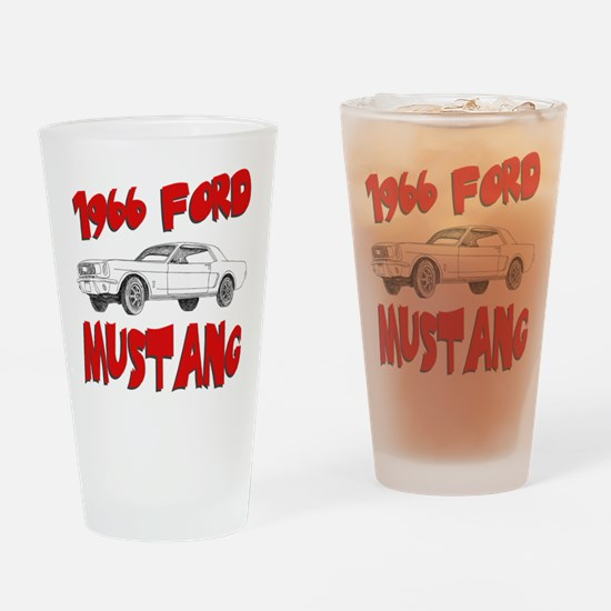 1966 Ford Mustang Drinking Glass