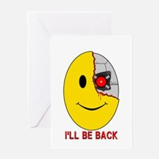 Terminator Smiley Face Greeting Card