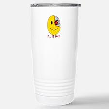 Terminator Smiley Face Travel Mug